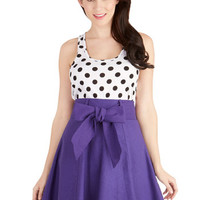 ModCloth Folk Art Mid-length A-line Musee Matisse Skirt in Violet