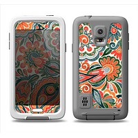 The Vintage Hand-Painted Coral Abstract Pattern Samsung Galaxy S5 LifeProof Fre Case Skin Set