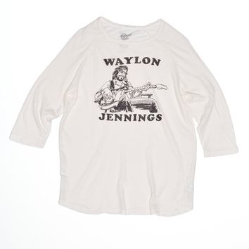 Waylon Jennings Iron-On Baseball Tee