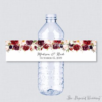 Personalized Bottle Water Labels