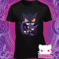 Kawaii Pastel Ghost Type Gengar Haunter Gastly Pokemon Womens Shirt
