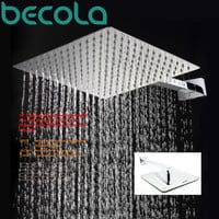 Fashion Square Stainless Steel Ultra-Thin Showerheads 6 8 10 12 16 Inch Rainfall Shower Head Bathroom Shower Faucet