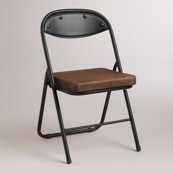 wood and metal colton folding chairs set from cost plus world
