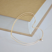 Gold Heart Hoop Earrings / Lightweight Hearts Hoops / 14K Gold Filled Hoops 2.5 inch / Gift for Her / Delicate Jewelry. Love Earrings Hearts