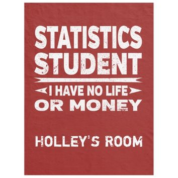 Statistics College Major No Life or Money Fleece Blanket