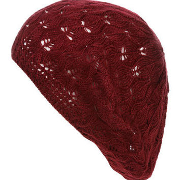 Open Weave Beret | Shop Accessories at Wet Seal