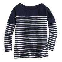 J.Crew Womens Metallic Stripe Three-Quarter Sleeve