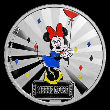 2019 Niue 1 oz Silver $2 Disney Carnival Collection: Minnie Mouse