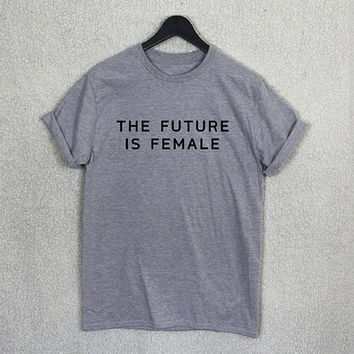 OPAL FERRIE - Feminist T Shirt Top Future Is Female Smash The Patriarchy Tee