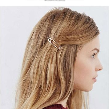 2017 popular new European and American fashion simple headdress exquisite playful metal needle hairpin hair accessories hairpin
