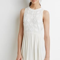 Embroidered Gauze Dress