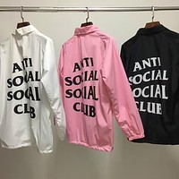 ANTI SOCIAL SOCIAL CLUB Windbreaker Jackets Men ASSC Logo Hip Hop Yeezy Season Nylon B