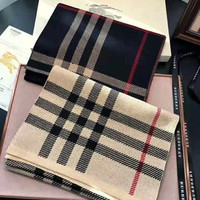 Burberry autumn and winter new classic plaid men's cashmere scarf
