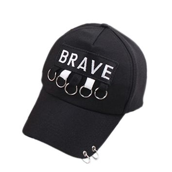 Letter Brave Embroidery Ring Ribbon Women Baseball Cap Fashion Novelty Casual Dad Hat Bone Gorras Autumn Winter 2017 New