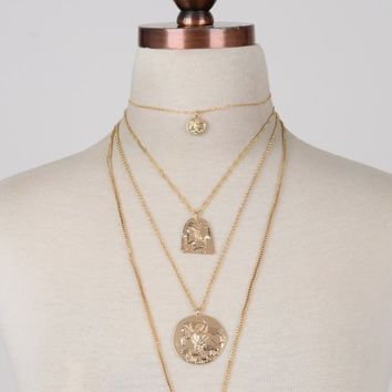 IV Medallions Necklace