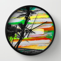 Mayaro Memories Wall Clock by Sophia Buddenhagen