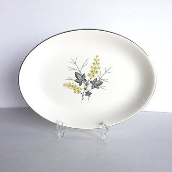 Vintage Harmony House China Lynn Oval Serving Dish