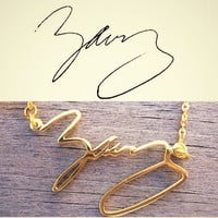 Signature Necklace/ Personal necklace/ Name Necklace/ Handwriting Necklace/ Handmade Jewelry 925 Sterling Silver/ Silver or Gold necklace