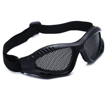 Outdoor Eye Protection Comfortable Airsoft Safety Tactical Glasses Goggles Anti Fog With Metal Mesh tactical