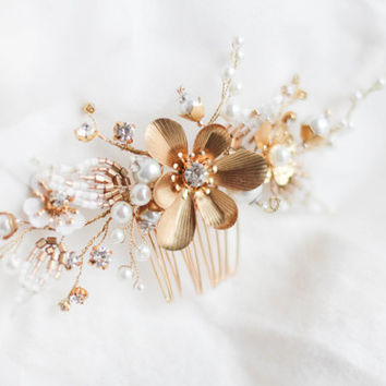 Flower Decorative Flower Pin Bridal Floral Hair Clip Decorative Hair Clip Bridal Hair Pin Wedding Hair Comb Bridal Headdress Floral PIn