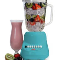 MaxiMatic EBL-2000GBL Elite Gourmet 10-Speed Blender with 48-Ounce Glass Jar, 450-watt, Blue