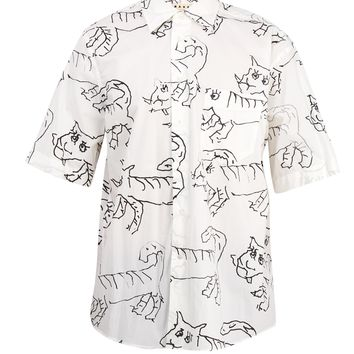 Illustrated cat-print cotton shirt | Marni | MATCHESFASHION.COM UK