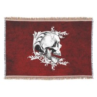 Skull Cameo 1 Throw Blanket