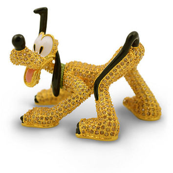 Disney Parks Limited Edition Pluto Jeweled Figurine by Arribas Brothers New with Box