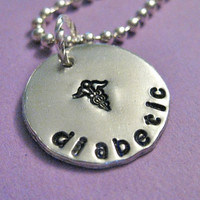 "Medical Alert Necklace - Custom 3/4"" Hand Stamped necklace, personalized for you"