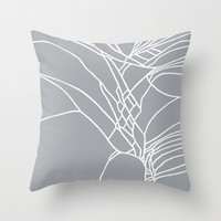 Cracked White on Grey Throw Pillow by Project M