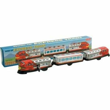 3 Car Tin Santa Fe Wind Up Train