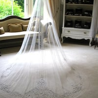 Couture bridal or wedding veil - Sophia