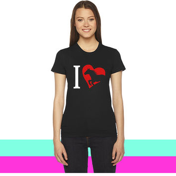 i love horses women T-shirt