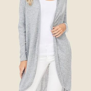 Open Front Hooded Cardi
