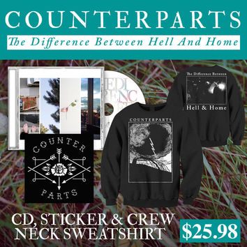 Counterparts: CD, Sticker And Crew Neck Sweatshirt Package