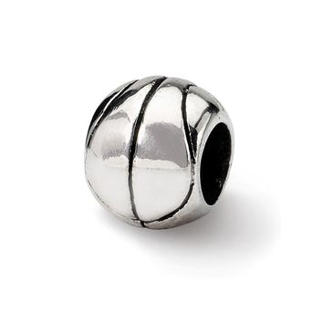 Basketball Charm in Silver for 3mm Charm Bracelets