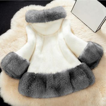 2017 New Fashion Women Faux Fur Coat Jacket Winter Warm Long Sleeve Fox Fur Parka Female Casual Hoodies Outwear Faux Fur Coat
