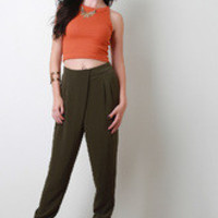 Women's Front Cross Covered Jogger Pants