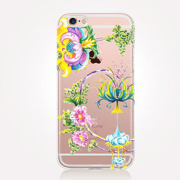 Transparent Enchanted Forest Phone Case - Transparent Case - Clear Case - Transparent iPhone 6 - Transparent S7 - Transparent iPhone 4