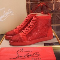 Cl Christian Louboutin Loafer Style #2351 Sneakers Women Fashion Casual Sneaker sport running white Shoes Best quality RED