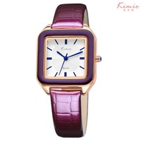 ladies fashion bright color square dial luxury brand women s watches leather female watches women wrist watch for women