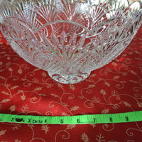 Brilliant Crystal Bowl, Leaded Crystal, Vintage Crystal, Fruit Bowl, Compote,