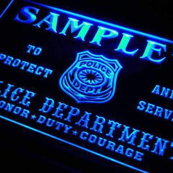 Personalized Police Department LED Neon Light Sign