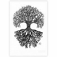 "Adriana De Leon ""The Tree of Life"" Black White Fine Art Gallery Print"