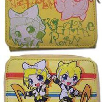 VOCALOID RIN KAGAMINE LEN KAGAMINE WALLET ANIME ACCESARY BACK TO SCHOOL