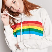 Rainbow Graphic Hooded Top