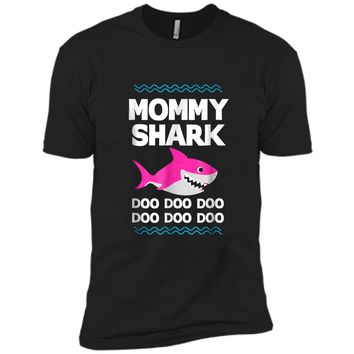 Mommy Shark Doo Doo  Funny Kids Video Baby Daddy Next Level Premium Short Sleeve Tee