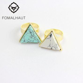 Fashion greenstone geometric FOMALHAUT The Midi Tip Finger Rings For Women Wedding Rings Party Jewelry 2015 RJ-90