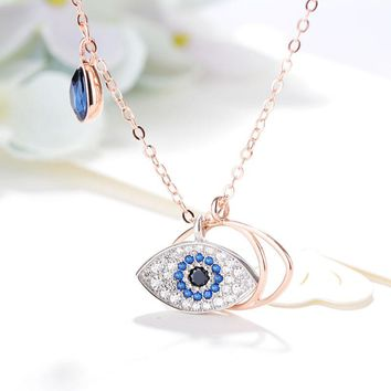 New Arrival Shiny Gift Jewelry Silver Crystal Stylish Accessory Devil Necklace [11652548495]