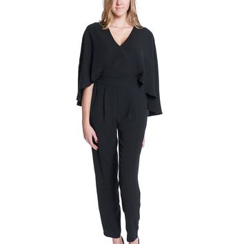 Dark Side Cape Jumpsuit - Black